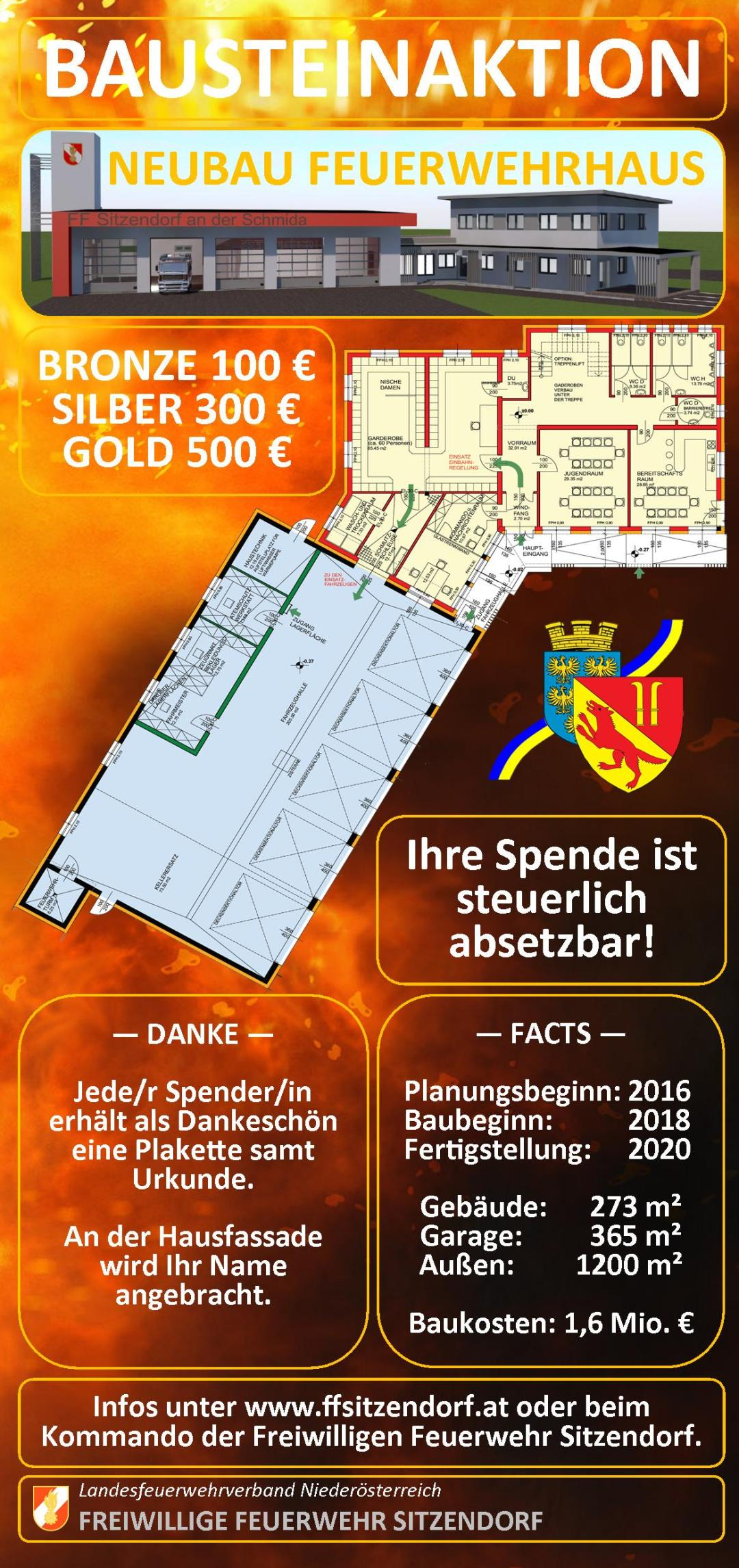 Flyer Bausteinaktion